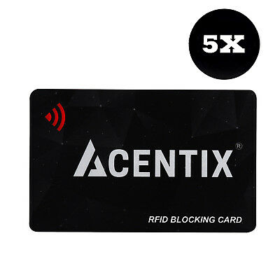 5 X UK RFID Bank Debit Blocking Card Contactless Protector Blockers For a Wallet