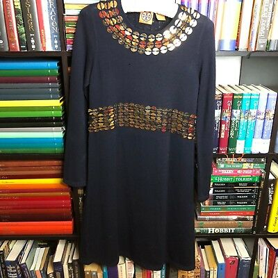 Tory Burch Designer Sweater Dress Sequined. Women's Size Small