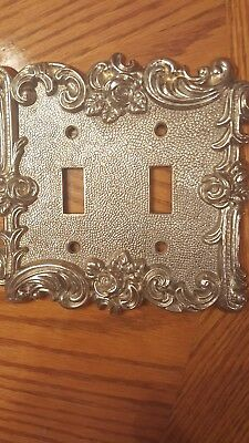 Vintage 1967 American tack & hardware Co.60TT Double light switch wall plate.