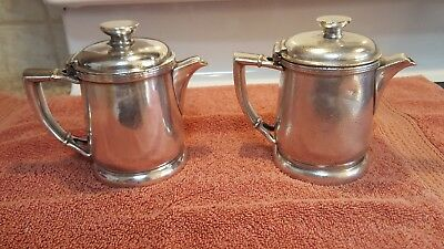 2 Silver soldered individual coffee pot Hotel Statler 1637853