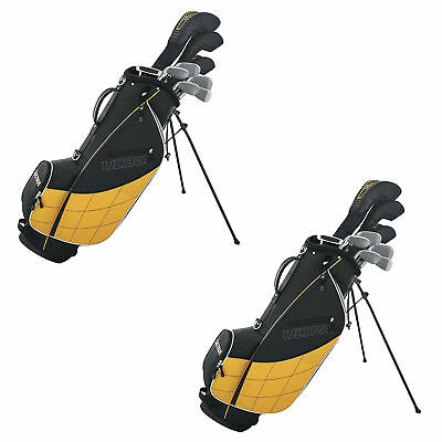 Wilson Ultra Men's 13 Piece Right Handed Golf Club Set & Stand, Yellow (2 Pack)