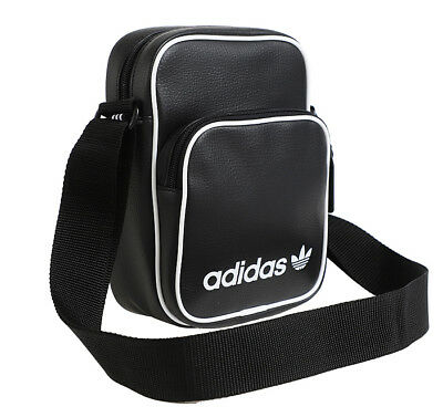 adidas Originals Mini Vintage Cross Bag Black Trefoil School Bag Travel  DH1006 4b9021d0cbd5b