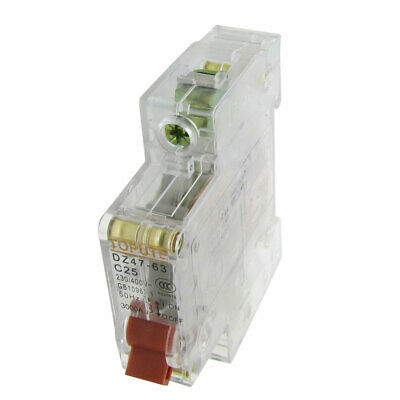 AC 230V 400V 25A 1P disjoncteur miniature mini Transparent