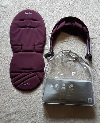 Silver Cross Surf Aubergine Purple Hood And Seat Liner From Colour Pack in Bag