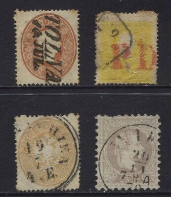 Austria Early Used Lot, Sc #6, #15, #21 & #39 Some Faults CV $266