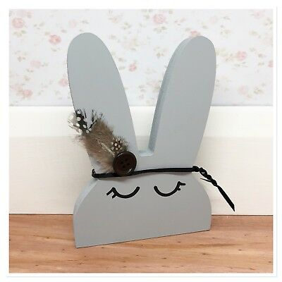 Handmade Wooden Bunny Nursery Decor Shelf