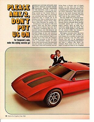 1969 Amc Amx/2  ~  Original 2-Page Article / Ad
