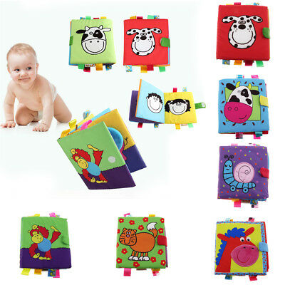 Intelligence development Soft 3D Animal Cloth Crinkle Book Baby Cognize Toy Gift