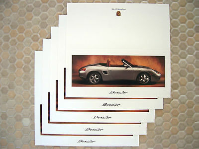 PORSCHE OFFICIAL SHOWROOM BOXSTER SERIES CARD BROCHURE x5