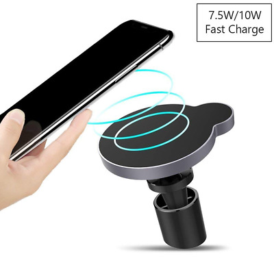 Attom Tech Magnetic Wireless Charger, Fast Qi Car 7.5W for iPhones, 10W Samsung