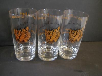 """3 6"""" Esso Put a Tiger in your Tank Around the World Drinking Glasses"""