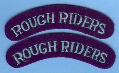 British Army Shoulder Title Patch Pair--ROUGH RIDERS...Airborne Artillery