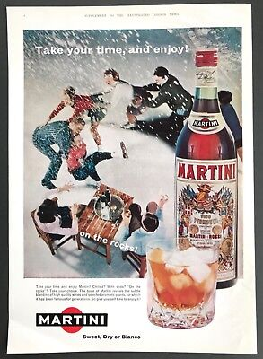 MARTINI ROSSI - Vintage Magazine Advert (1960s) Vermouth, Drink *