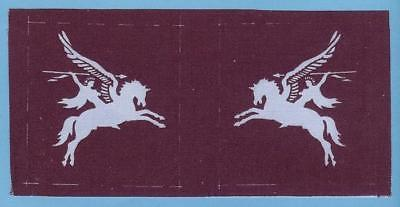 British Army Airborne Forces Pegasus Patches Signs, Printed Repro Pair