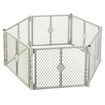North State Ind Inc 8666 Grey 6 Panel Play Gate