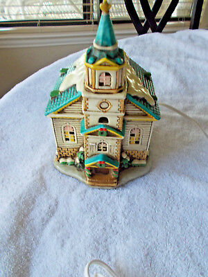 Lefton Colonial Village Lighted Church  #05820  1986.. Pre-Owned