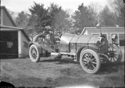 EARLY AUTOMOBILE - CHAIN DRIVE 6 CYL. SPEEDSTER at BARN - 6 ea. Film Negatives