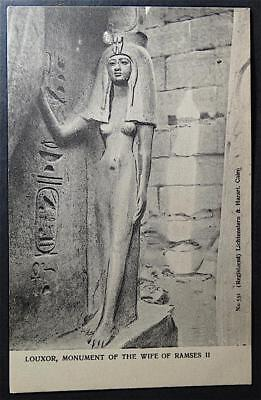 Postcard Egypte Louxor Monument of the Wife of Ramses II