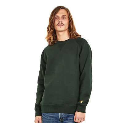 Carhartt WIP - Chase Sweat Loden / Gold Pullover Rundhals