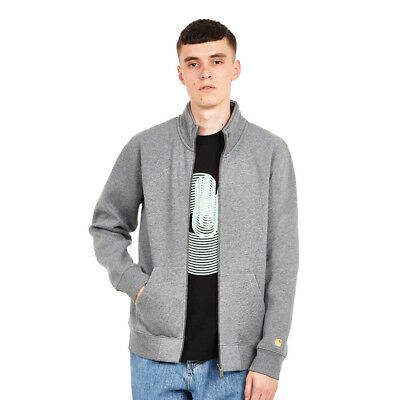 Carhartt WIP - Chase Neck Jacket Dark Grey Heather / Gold Sweatjacke