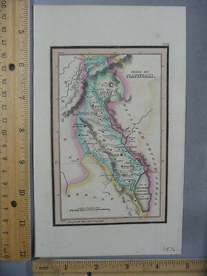 Rare Antique Orig VTG Leavitt Lord Tribe Of Naphtali Zebulon Map Engraved Print