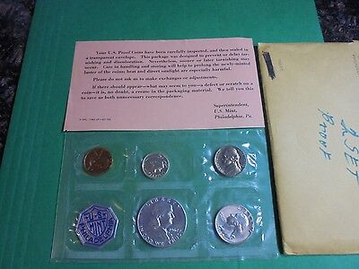 1962 Proof Set 5 COIN W/ 90 % SILVER FRANKLIN HALF $,WASHINGTON 25c, & RSLVT 10c