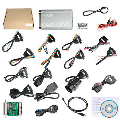 VXSCAN CARPROG Software V10.93 with 21 Adapters Airbag Reset Function Universal
