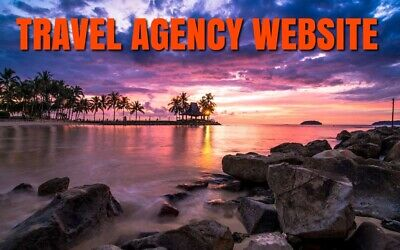 Travel Agency Website Business For Sale (Free Domain Included) Good Profits!
