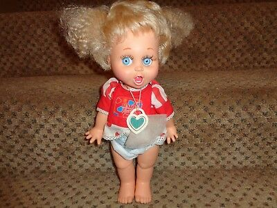 Vintage 1990 Galoob Lgti Baby Face Doll #2 So Surprized Suzy Doll + Necklace +