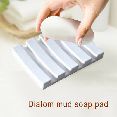 Bathroom Soap Dish Holder Bath Shower Tray Drainer Storage Rack Plate Container