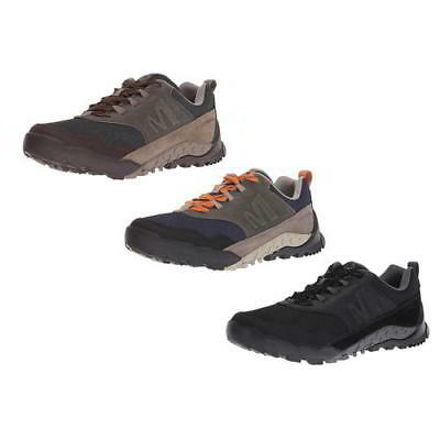 Merrell Mens Annex Recruit Brown Black Leather Walking Trainers Shoes Size  8-12 9113feb23