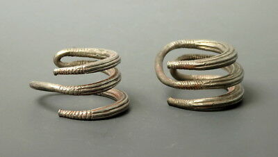 A Pair Of Greek-Phoenician Silver Coiled Hair Ties (M30)