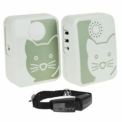 New Karlie Kitty Cat Phone Door Bell Notification Collar Telephone System Alarm