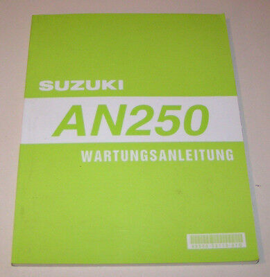Manuale Officina Suzuki Moto Scooter An 250 - Stand 1998