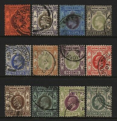 Hong Kong Collection 12 KEVII Values Used