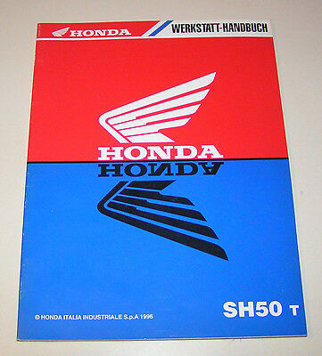 Manuale Officina Honda Moto Scooter Sh 50 Scoopy (Tipo Af 40) - Stand 1996