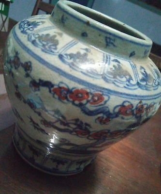 chinese ming or qing dynasty old antique vase