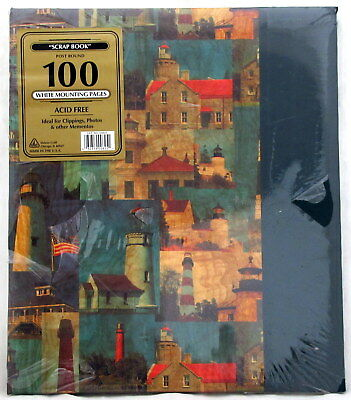 Scrapbook Post Bound Acid Free Scrapbook Album 100 Pages 14 X 11 in Lighthouse