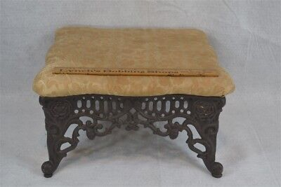 foot stool cricket cast iron matching Victorian filigree