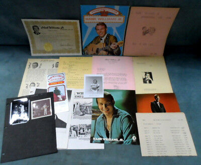 Hank Williams Jr. Photos Postcards Fan Club Stuff Clippings  - Grand Ole Opry