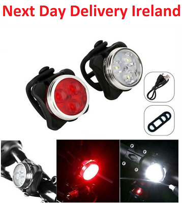 USB Rechargeable Bicycle Cycling LED Tail Light 3 Modes Bike Front Rear Small