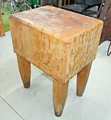 Vintage Butcher Block Table Kitchen Island 31 5 X 24 18