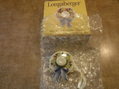 Longaberger Rare Retired Mothers Day Early Blossoms Bonnet Tie On- New #37133