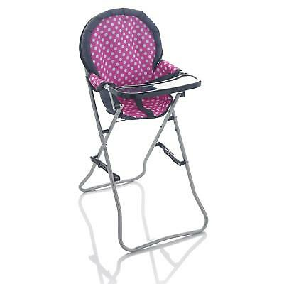 Deluxe Molly Dolly Foldable Feeding Highchair High Chair For Kids Baby Children