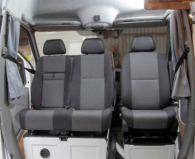 Vw Crafter Sprinter UK's Only M1 Tested Open Top Double Swivel Seat Base