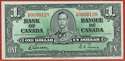 BANK OF CANADA 1937 GORDON-TOWERS WIDE PANEL $1.00 (BC-21c) AU
