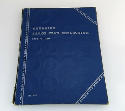 (44) Large Cent Penny Canadian Coin Collection Book Lot 1859 - 1920