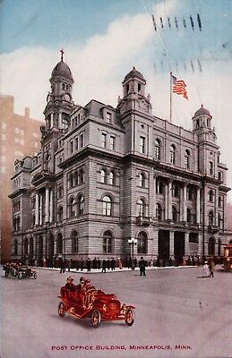1910 Post Office Building Minneapolis, MN Vintage Postcard