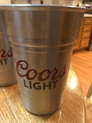 Coors Light 22 Ounce Aluminum Cups Set Of 2-Philadelphia 76ers-Keeps Cold