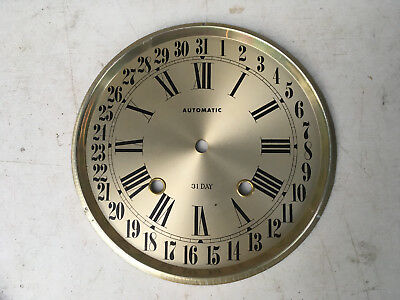 Vintage 31 Day Calendar Clock Face for Parts Repair ML169